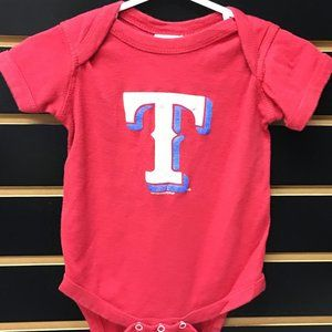 💲2/$12💲Texas Rangers Red Infant 1-pc Bodysuit